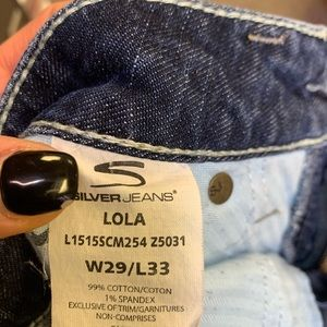 Silver jeans 29/33